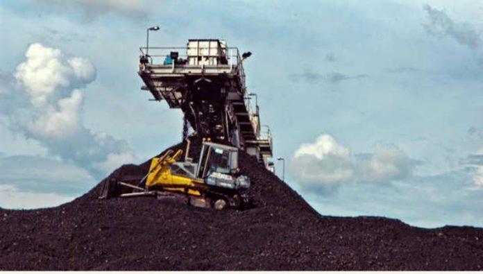 Ilustrasi produksi batu bara